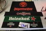 Times 4 - Rubber spill mats - Cazadores/ (2) Heineken/ Jägermeister