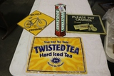 Times 4 - metal wall signs - Boulevard/ Bicycle crossing/ Twisted Tea/ Dr.