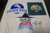 Times 3 - Metal wall tins - Sam Adams/ Golden Road Brewing/ Sandwich signs