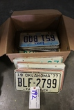 Box of Iowa & Assorted state license plates