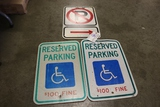 Times 3 - No parking and handicapped signs