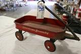 American Beauty red wagon