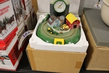 John Deere clock with farm scene