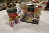 All to go - Budweiser bucket and candles with Budweiser wooden bar stand se