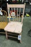 All to go - 3 wooden chairs with wood iron board