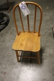 Pine child's bow back chair
