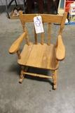 wood child's rocking chair