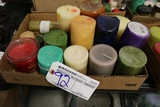 Box of assorted candles