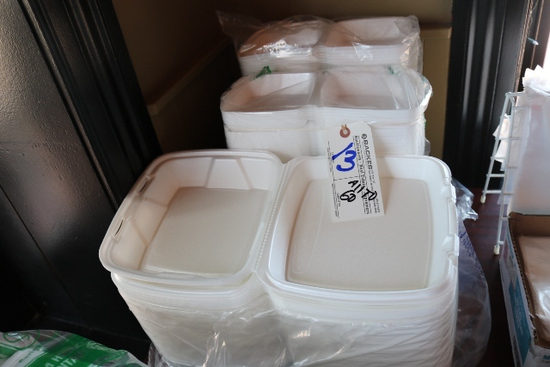 All to go- Foam dinner & sandwich containers
