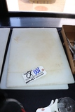 Times 2 - 15x20 White poly cutting boards, (1) shows melt spot