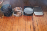Assorted bakery pans