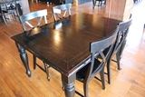 44 x 60 Black wood dining table w/4 chairs