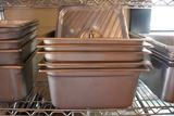 Times 5 - Stainless 1/2 x 6  inset pans w/lids
