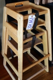 Times 2 - Pine high chairs