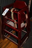Times 2 - Cherry finish high chairs