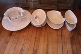 Times 8 - Assorted white service bowls