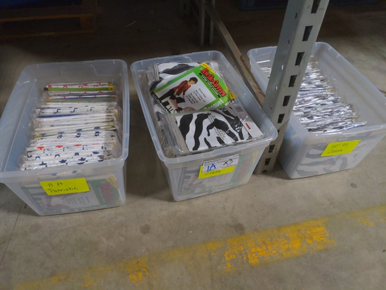 """Times 3 - 3 totes of Kwik covers - 8' & 60"""" round zebra pattern"""