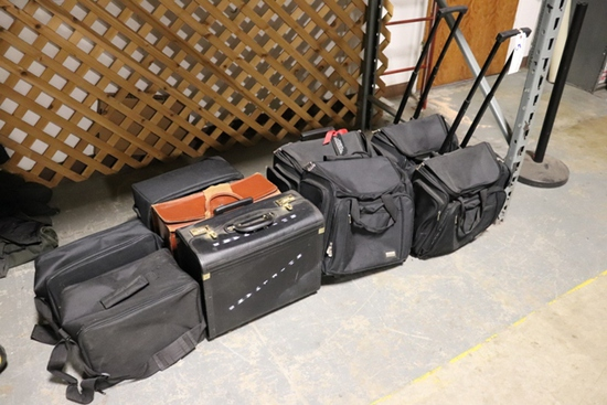 All to go - brief cases and portable sales person bags