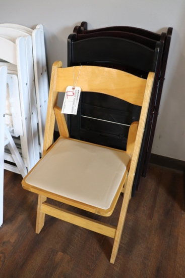 Times 4 - 3 black and 1 natural chairs