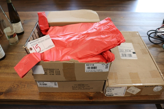 All to go - 3 boxes of t-shirt bags