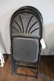 Times 4 - black fan back chairs