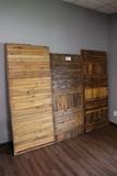 Oak accent wall