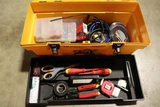 Tool box with misc. electric supplies