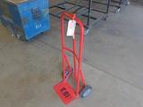 Red solid wheel 2 wheel cart