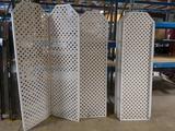Times 9 - 7' tall poly 2 panel lattice