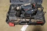 Bosch 1265EVS hammer drill with case and drill bits