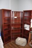 All to go - 3 piece cherry finish book shelf
