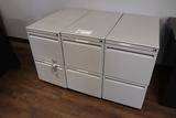Times 3 - grey 2 door file cabinets