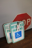 All to go - handicap parking signs