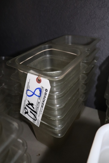 "Times 12 - 1/6 x 6"" acrylic inset pans - no lids"