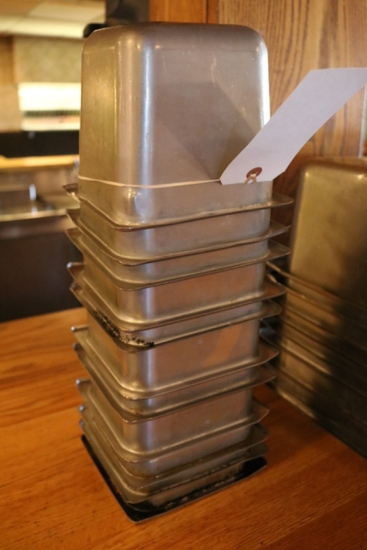 """Times 11 - 1/6 x 6"""" stainless inset pans - no lids"""