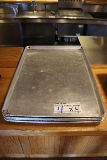Times 4 - Aluminum full sized sheet pans