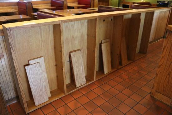 """43"""" x 118"""" wall cabinet w/ shelfs"""