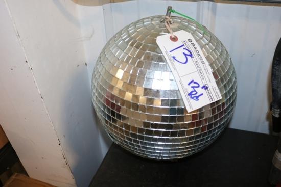 """13"""" round disco ball"""