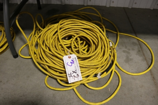 Times 2 - Approximate 75' heavy duty extension cords