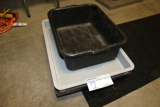 All to go - Dough box with cart & bus tub