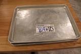 Times 5 - aluminum 1/2 size sheet pans