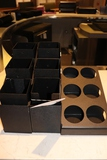 All to go - black acrylic condiment centers