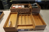 All to go - wood silverware bins - reserve signs - toothpicks