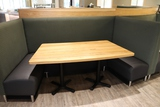 Times 5 - sections of 4 passenger booth openings - concave curved backs WIT