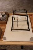 Times 2 - 18 x 24 white cutting boards with board holder