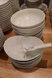 All to go - white Tuxton bowls