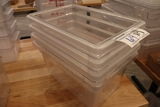 Times 4 - 12 x 18 x several depths acrylic food storage containers