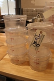 Times 7 - 2 qt round food storage containers with lids