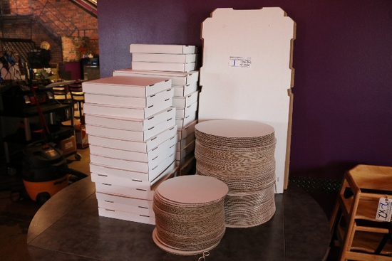 All to go - Pizza boxes & round cardboard pizza boards