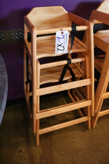 Times 2 - Oak high chairs